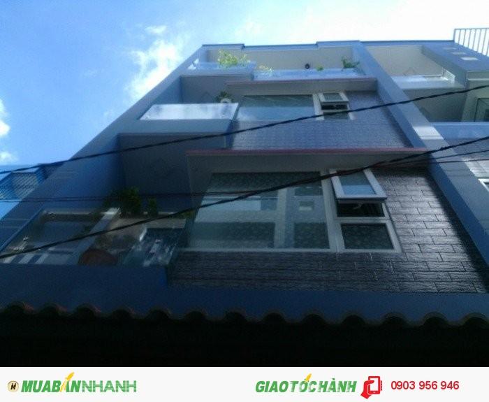 Nhà Bán 1122/16 Quang Trung, Phường 8, Gò Vấp, Hẻm xe hơi 4m DT: 4,2 x 12m, 1 trệt+ 3 lầu, 4PN, 5WC, Hướng Tây Nam
