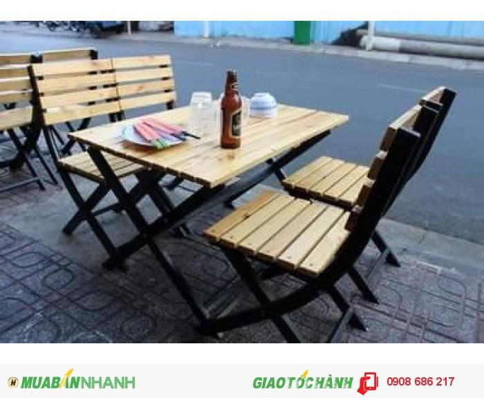 Bàn  ghế  gỗ dành  cho quán  nhâu  quán càfe giá  rẻ2