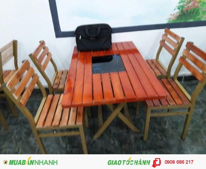Bàn  ghế  gỗ dành  cho quán  nhâu  quán càfe giá  rẻ0