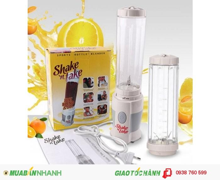 Máy Xay Sinh Tố Mini Shake N Take 2 Cốc NX165