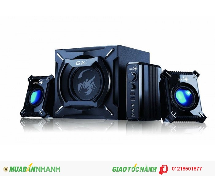 Genius SW-G2.1 2000 2.1 Channel 45 Watts RMS Gaming Woofer Speaker System for Android, Apple Devices...