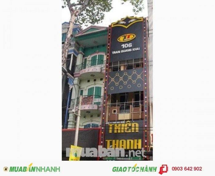 Bán gấp nhà Quận 1 đường Nguyễn Cư Trinh, P. Phạm Ngũ Lão, Q1. Dt: 4.2x22m