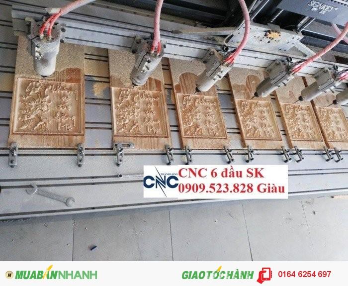 Máy CNC 6 đầu đục vi tính nhập khẩu Singkey