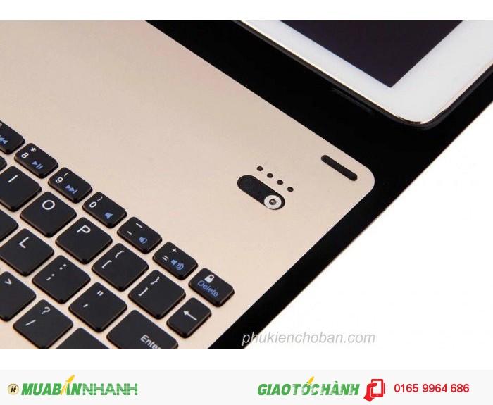 Bàn phím bluetooth bao da dành cho iPad Pro 9.7-Gold