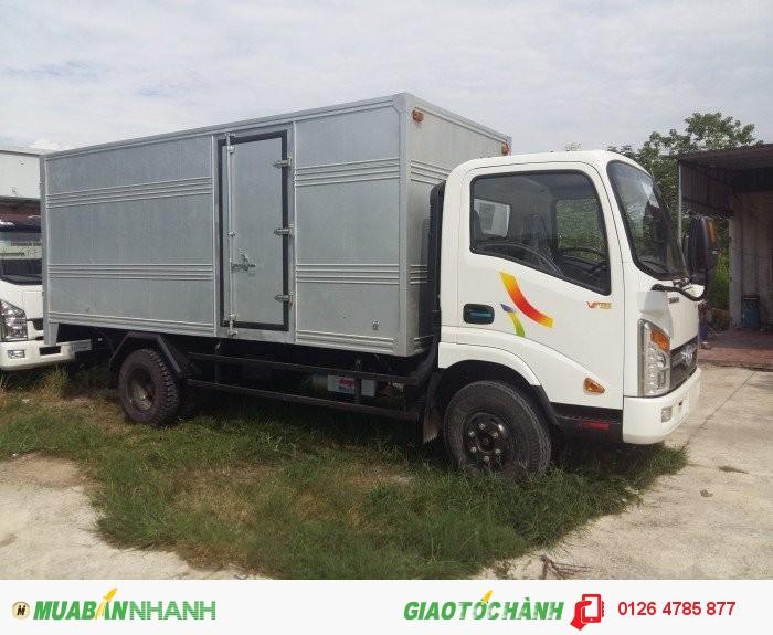 Bán xe tải veam 2T4 VT252 thùng dài 3m85 động cơ Hyundai, xe được vào thành phố, xe có sẵn giao ngay 2