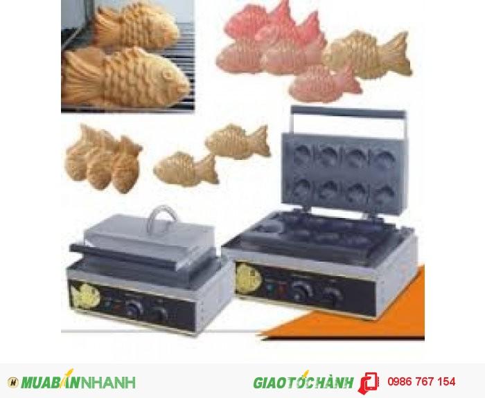 Máy làm bánh kem cá Hàn Quốc, máy làm kem quế giá rẻ.