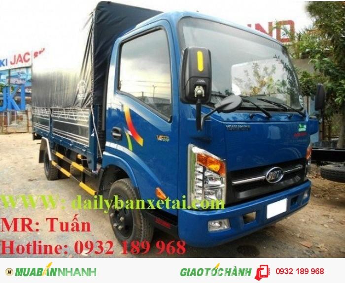 Xe tải veam vt200-1, veam 2t thùng mui bạt