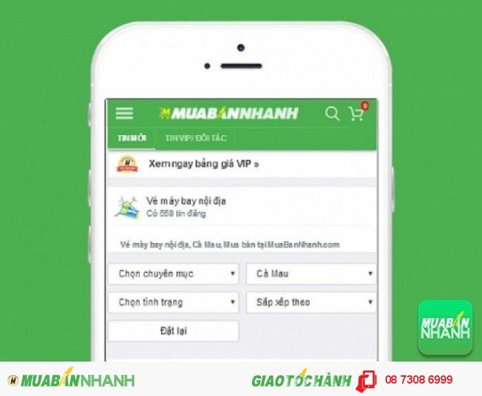 Tìm mua vé máy bay đi Cà Mau uy tín trên Mạng xã hội MuaBanNhanh
