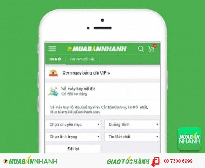 Tìm mua vé máy bay đi Đồng Hới uy tín trên Mạng xã hội MuaBanNhanh
