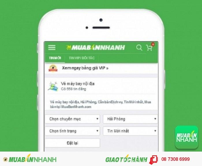 Tìm mua vé máy bay đi Hải Phòng uy tín trên Mạng xã hội MuaBanNhanh