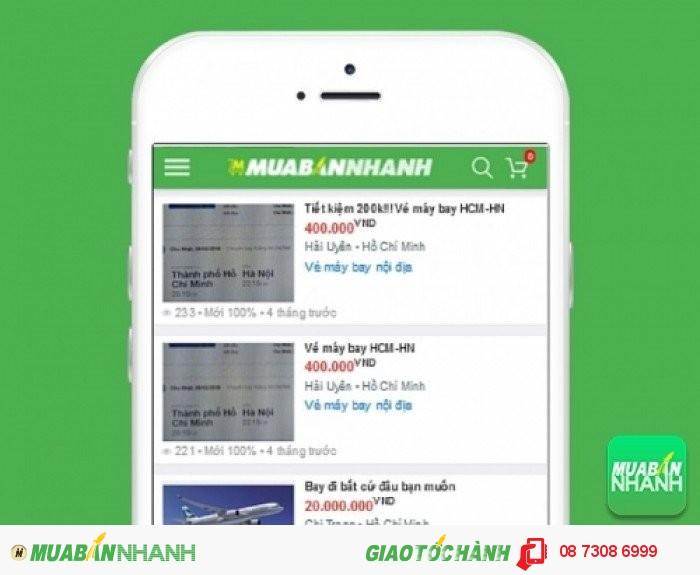 Giá vé máy bay đi Sài Gòn trên Mạng xã hội MuaBanNhanh