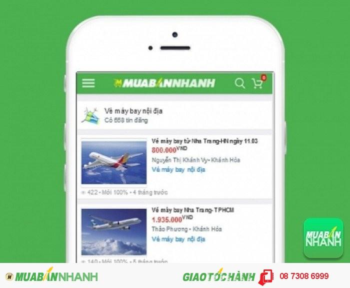 Giá vé máy bay đi Nha Trang trên Mạng xã hội MuaBanNhanh