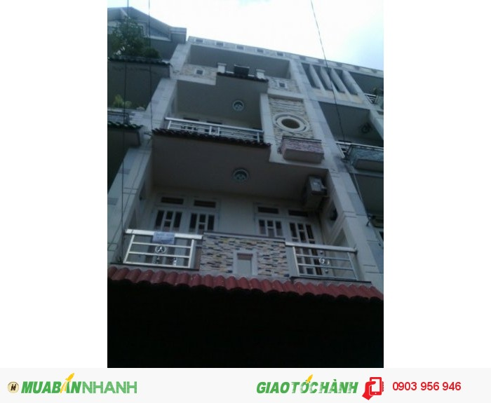 Nhà Bán Hẻm 45 Bùi Quang Là, Phường 12, Gò Vấp, HXH 8m, 4x11m, 1 trệt+3 lầu , 6PN, 6WC, Tây Bắc