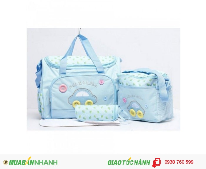 Túi Mẹ Và Bé Diaper Bags 3in1 Cao Cấp NX7300