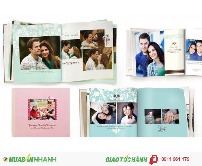 Photobook - Phong cách Album cưới hiện đại - Size 10x10 cm, loại 12 tờ