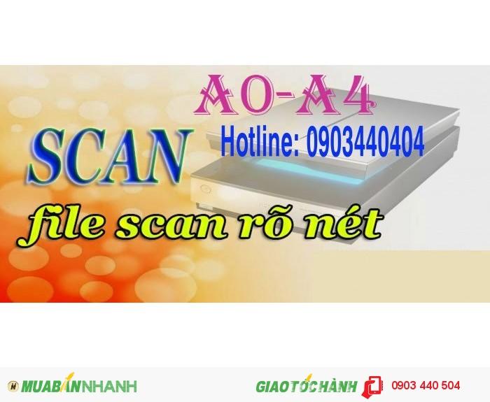 Scan khổ lớn A0- A4 với chi phí thấp nhất
