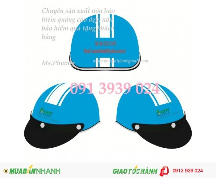 Nhận làm nón bảo hiểm quảng cáo, nón bảo hiểm in logo