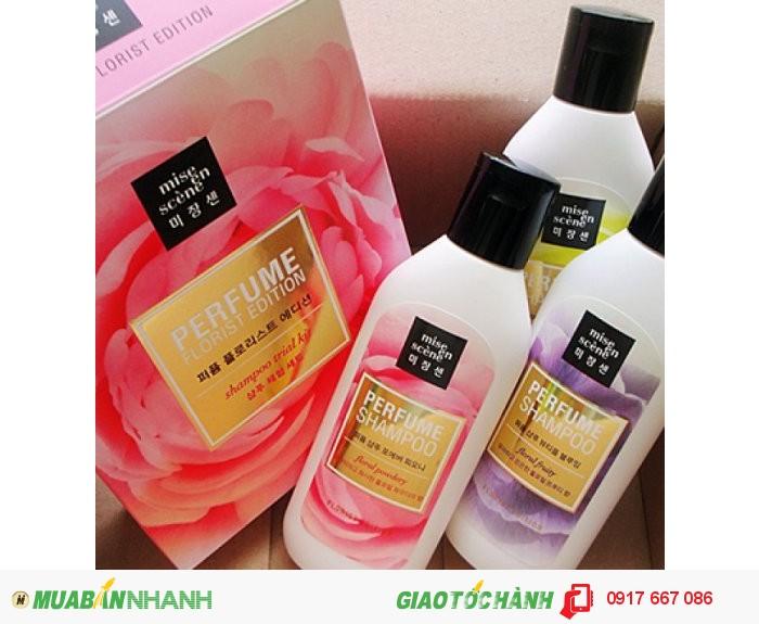 Dầu Gội Nước Hoa Dưỡng Ẩm Perfume Shampoo Floral Powdery Mise En Scene0