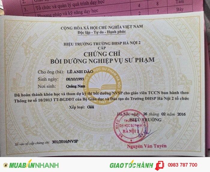 Đào tạo nghiệp vụ sư phạm tại Quy Nhơn Bình Định