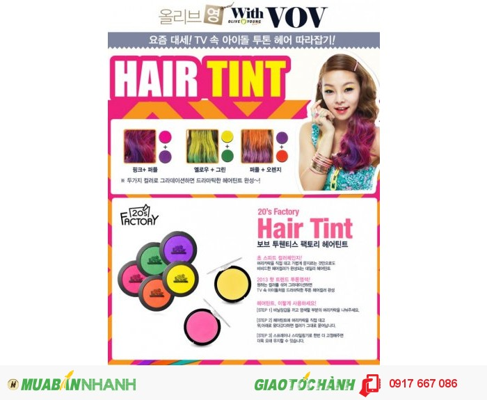 Phấn Nhuộm Tóc VOV Hair Tint 20'S Factory1
