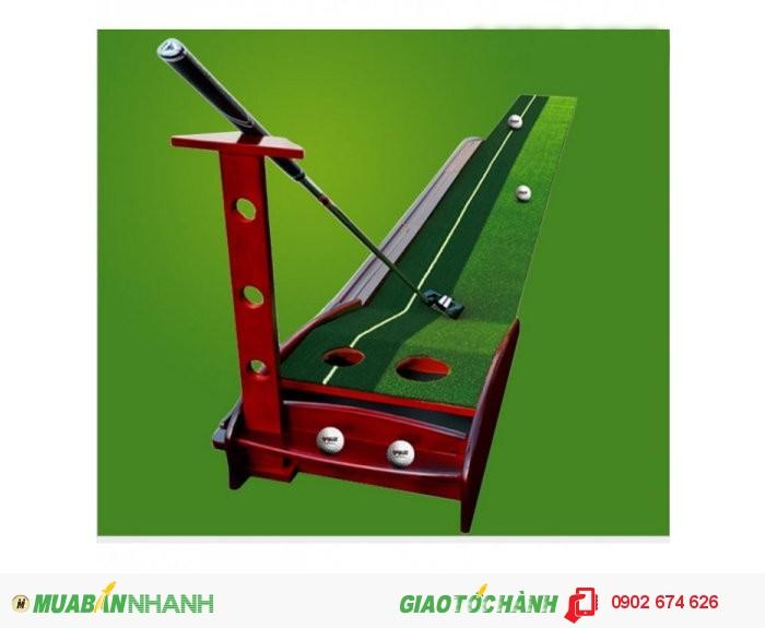 Thảm gạt golf mini, putting green gỗ, thảm tập gạt bóng golf1