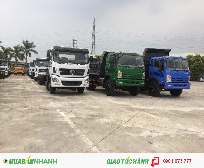 Chuyên bán xe ben tự đổ Dongfeng, Mua xe ben tự đổ Dongfeng 7 tấn 8 tấn 9 tấn 10 tấn 13 tấn trả góp 3