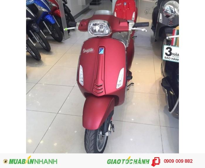 Xe Vespa Sprint  ABS màu đỏ mận nhám 0