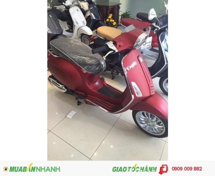 Xe Vespa Sprint  ABS màu đỏ mận nhám 4