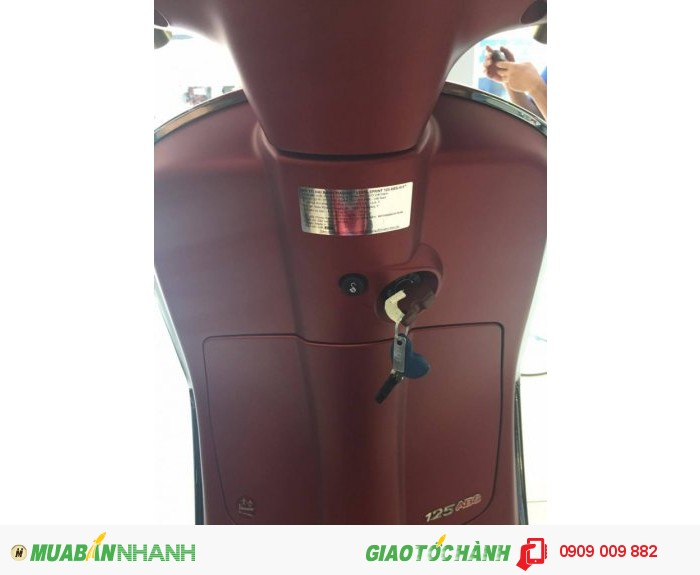 Xe Vespa Sprint  ABS màu đỏ mận nhám 1