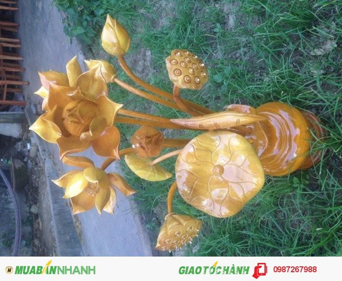 Bình hoa sen gỗ-hàng đẹp-Giá siêu rẻ-bao ship toàn quốc4