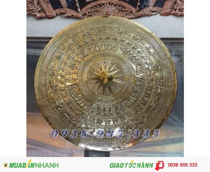 Mặt trống đồng đông sơn bằng đồng, phù điêu trống đồng giá tốt tại Sài Gòn