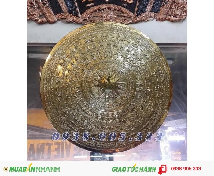 trống đồng đông sơn bằng đồng, phù điêu trống đồng giá tốt tại Sài Gòn