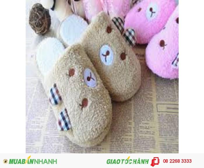Dép bông đi trong nhà hình gấu dễ thương - MSN183022
