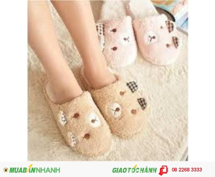 Dép bông đi trong nhà hình gấu đáng yêu - MSN183022