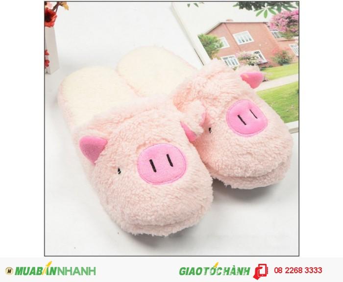 Dép bông đi trong nhà hình heo dễ thương - MSN183024