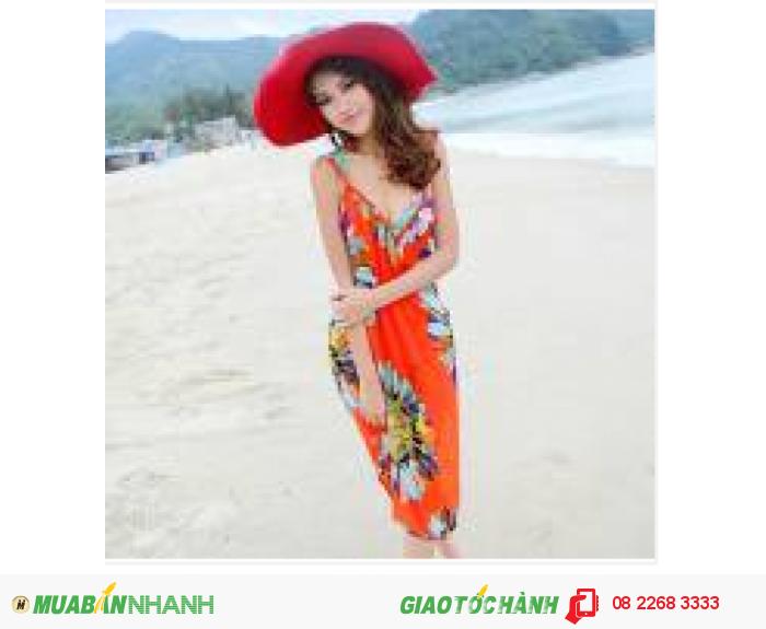 Khăn tắm đi biển đa năng Hoa Hướng Dương Cam - KT17