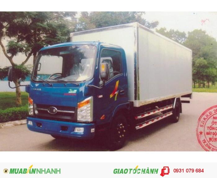 VT340s thùng kín dài 6m2 xe tải 3t490 bằng b2 chạy được