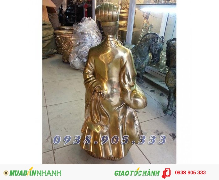 Tượng Khổng Minh cao 50cm, tượng đồng Gia Cát Lượng phong thủy2