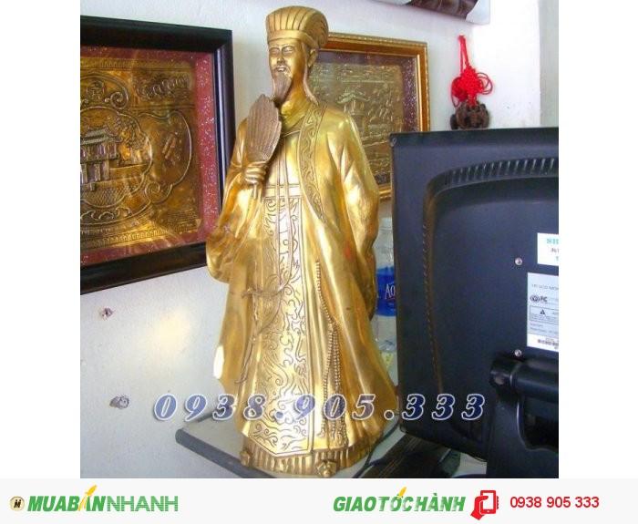 Tượng Khổng Minh cao 50cm, tượng đồng Gia Cát Lượng phong thủy3