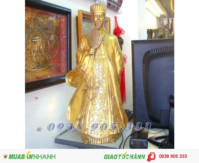 Tượng Khổng Minh cao 50cm, tượng đồng Gia Cát Lượng phong thủy4