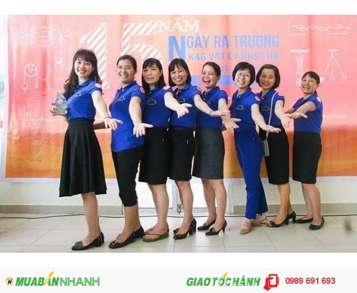 May áo thun đồng phục được may gia công tại Xưởng may gia công Trang Trần