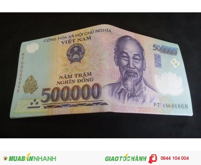 Bóp da nam in hình tiền