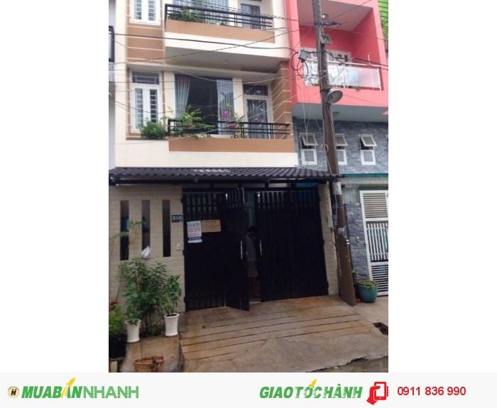 Nhà khu D3, Bình Thạnh, gần trung tâm, trệt 3 lầu, 4.5x15, nở hậu 7m