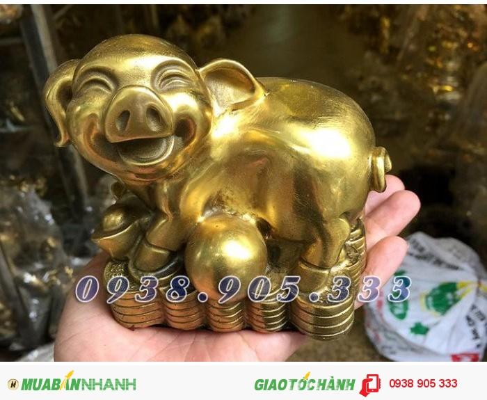 Tượng heo đồng phong thủy ngồi tiền,bộ quà tặng 12 con giáp giá rẻ tại Sài Gòn0