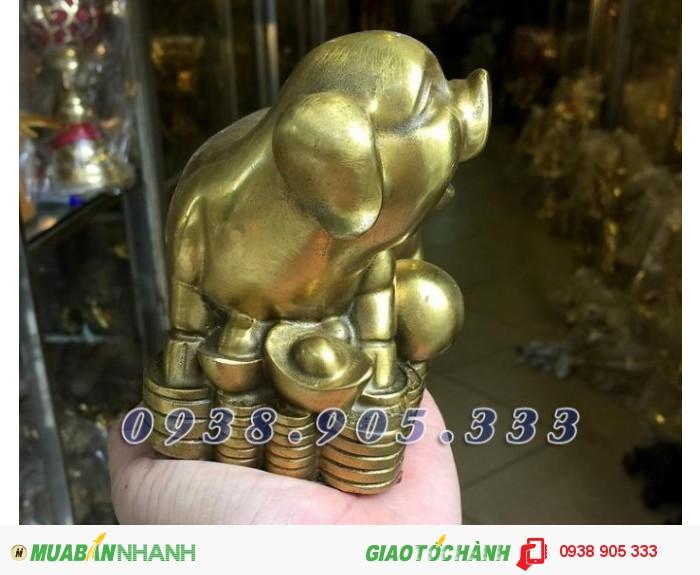 Tượng heo đồng phong thủy ngồi tiền,bộ quà tặng 12 con giáp giá rẻ tại Sài Gòn1