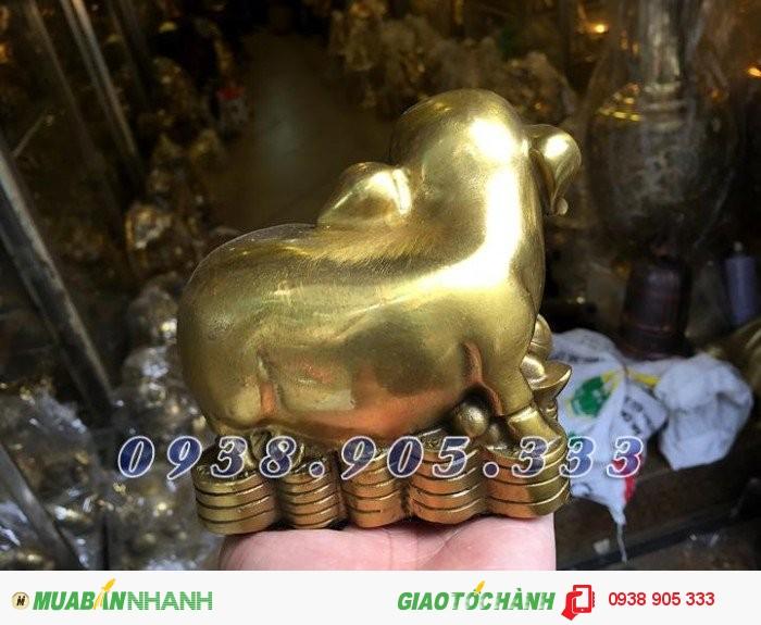Tượng heo đồng phong thủy ngồi tiền,bộ quà tặng 12 con giáp giá rẻ tại Sài Gòn2