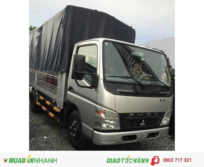 Bán trả góp xe tải Fuso Canter 1T9 thùng mui bạt, mui kín giá cạnh tranh nhất 
