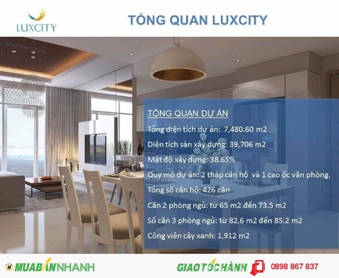 Bán căn hộ luxcity 65-85,2m2 giá 1.49-1.95 tỷ