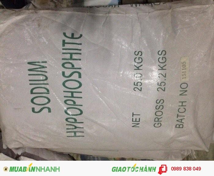 Bán Natri Hypophosphite - Sodium Hypophosphite - NaH2PO2.H2O cho mạ niken, phụ gia xây dựng0
