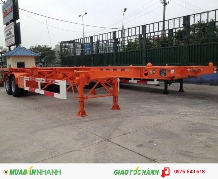 Sơ Mi Rơ Mooc CIMC 3 trục 12 gù 40 feet nhập khẩu/Giá Rơ Mooc CIMC 3 trục 40F 45F chở  Container